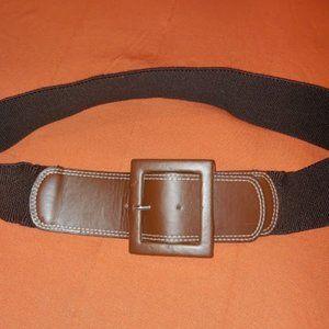 IZOD brown elastic dress belt